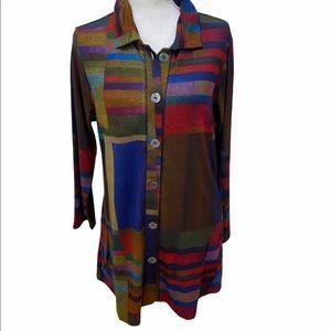 NWT Paisley & Sage stretch button shirt pockets